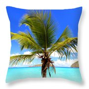 Tropical Island Throw Pillow