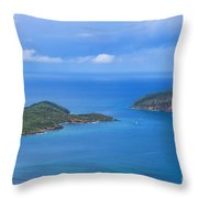 Tropical Islands In The Caribbean Sea Throw Pillow
