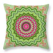 Tropical Kaleidoscope Throw Pillow