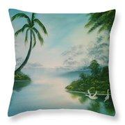 Tropical Lagoon Throw Pillow