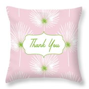 Tropical Leaf Thank You- Art By Linda Woods Throw Pillow