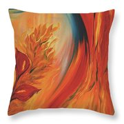 Tropical Lilies Throw Pillow