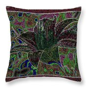 Tropical Lily 3 Throw Pillow