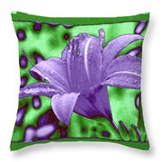 Tropical Lily 4 Throw Pillow