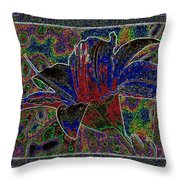 Tropical Lily 5 Throw Pillow