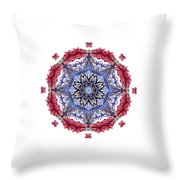 Tropical Mandala By Kaye Menner Throw Pillow