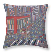 Tropical Masp Throw Pillow