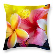 Tropical Melange Throw Pillow