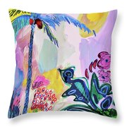 Tropical Moods Throw Pillow