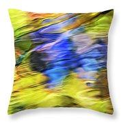 Tropical Mosaic Abstract Art Throw Pillow