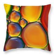 Tropical Oil And Water II Throw Pillow