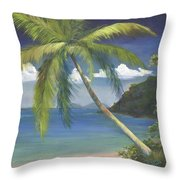 Tropical Palm Throw Pillow