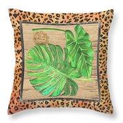 Tropical Palms 2 Throw Pillow