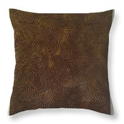 Tropical Palms Canvas Bronze - 16x20 Hand Painted Throw Pillow