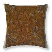 Tropical Palms Canvas Copper Silver Gold - 16x20 Hand Painted Throw Pillow