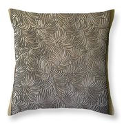 Tropical Palms Canvas Silver - 16x20 Hand Painted Throw Pillow
