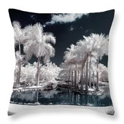 Tropical Paradise Infrared Throw Pillow
