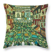 Tropical Paris Throw Pillow