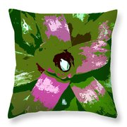 Tropical Plant Work Number 5 Throw Pillow