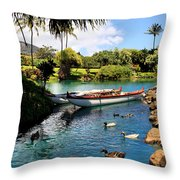 Tropical Plantation - Maui Throw Pillow