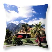 Tropical Plantation Throw Pillow