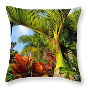 Tropical Plants Throw Pillow