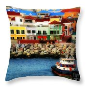 Tropical Port Throw Pillow