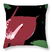 Tropical Red Number 12 Throw Pillow