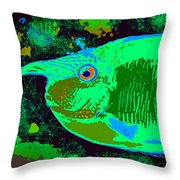 Tropical Reef Fun Throw Pillow