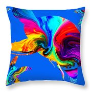 Tropical Sea Daydreaming Throw Pillow