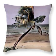 Tropical Seascape Digital Art A7717  Throw Pillow by Mas Art Studio