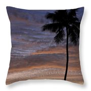 Tropical Silhouette Throw Pillow