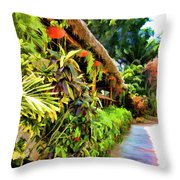 Tropical Splendor Throw Pillow