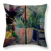 Tropical Still Life Throw Pillow