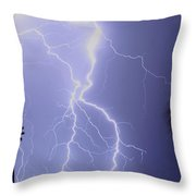 Tropical Storm Ll Throw Pillow