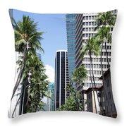 Tropical Street Throw Pillow