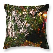 Tropical Streetlight Throw Pillow