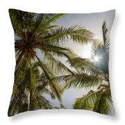 Tropical Sun Throw Pillow