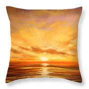 Tropical Sunset 75 Throw Pillow