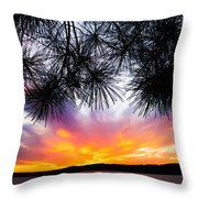 Tropical Sunset  Throw Pillow
