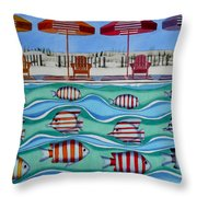 Tropical Sycronicity Throw Pillow