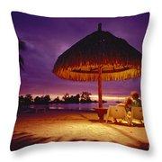 Tropical Tahitian View Throw Pillow