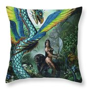 Tropical Temptress Throw Pillow
