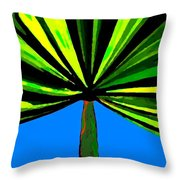 Tropical Tree Throw Pillow