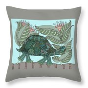 Tropical Turtle Throw Pillow