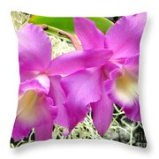 Tropical Twins Throw Pillow