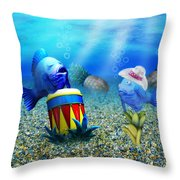 Tropical Vacation Under The Sea Throw Pillow