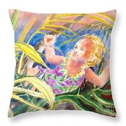 Tropical Water Baby Throw Pillow