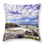 Tropical Waves Throw Pillow