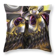 Tropical Wind Abstract Throw Pillow